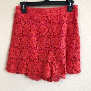 Chelsea & Violet Rose Design Lace Shorts